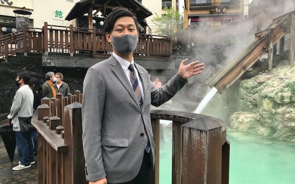 福田俊介事務局長(35)は若者層の取り込み強化を担う(群馬県草津町で撮影)