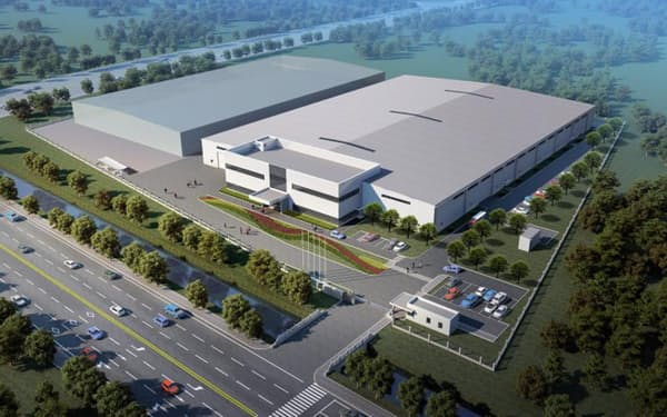 新工場に20億円を投資し、アジア事業に弾みをつける(新工場のイメージ)