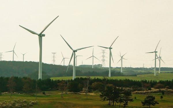 青森県六ケ所村の風力発電所
