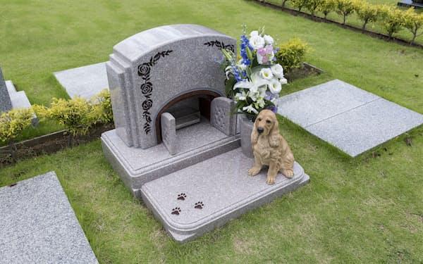 メモリアルアートの大野屋はペットと入れる墓「ウィズペット」を展開する