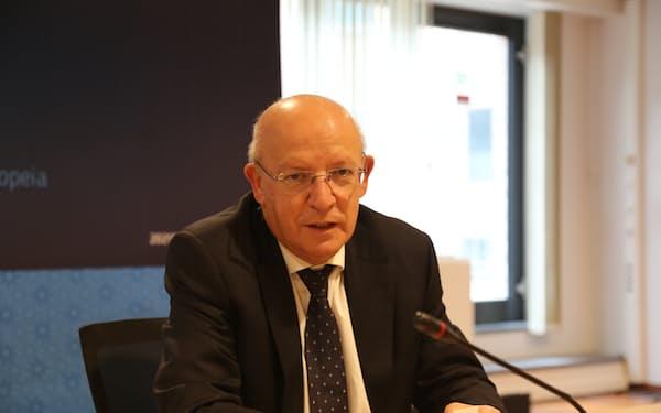 ポルトガルのサントスシルバ外相(19日、ブリュッセル)