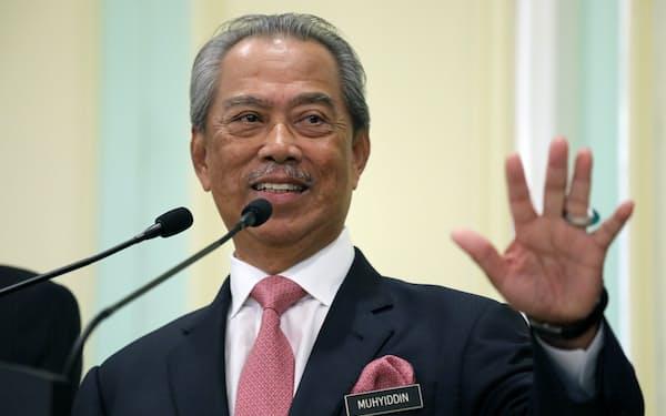 マレーシアのムヒディン首相はナジブ元首相の汚職を追及する姿勢だ(2020年3月)=ロイター