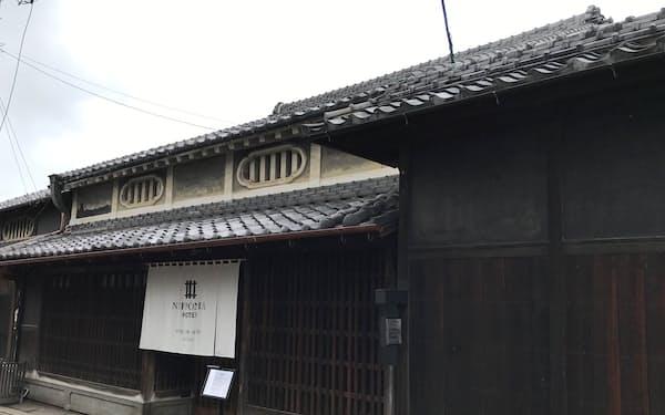 5月15日開業した施設分散型ホテルの「MITAKE」棟(三重県伊賀市)