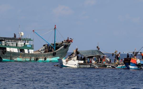 中比は南シナ海の領有権を巡り対立する(2017年、南シナ海のスカボロー礁)