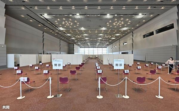 大規模接種センターの大阪会場となる大阪府立国際会議場=23日午前、大阪市(共同)