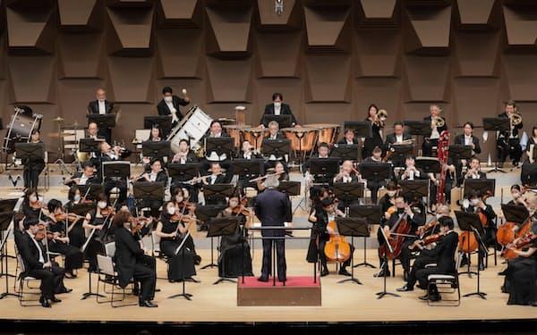 大阪フィルハーモニー交響楽団の昨年の定期演奏会=飯島 隆撮影