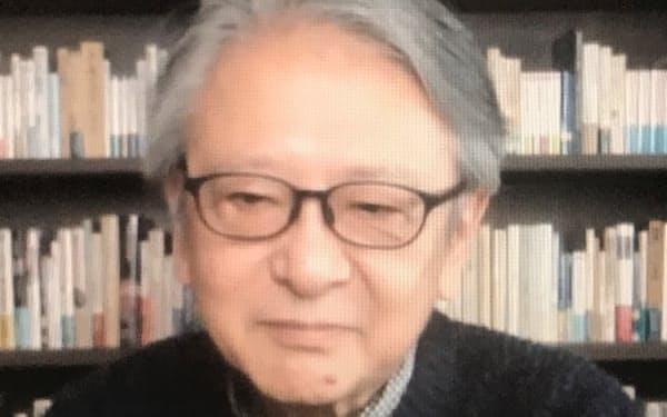 オンラインでインタビューに答える早川英男氏