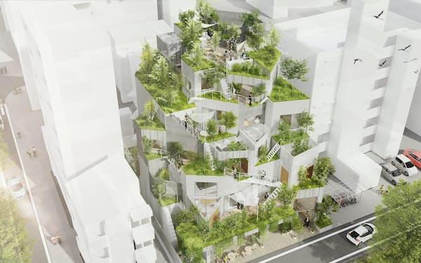 ホテルとして貸し出せる集合分譲住宅を開発する(完成イメージ)
