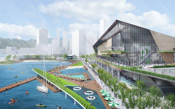 神戸の新アリーナのイメージ図