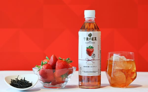 熊本県産のイチゴや紅茶葉を使用した