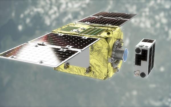 アストロスケールが技術実証する衛星のイメージ