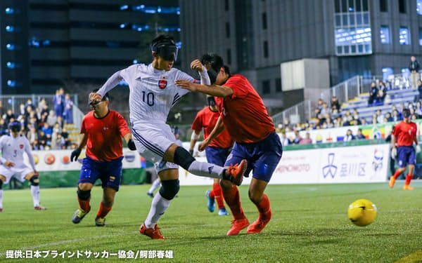 日本が8チーム中4位と健闘した2019年のワールドグランプリ。日本にとって1年半ぶりの国際試合となる(提供:日本ブラインドサッカー協会/鰐部春雄)