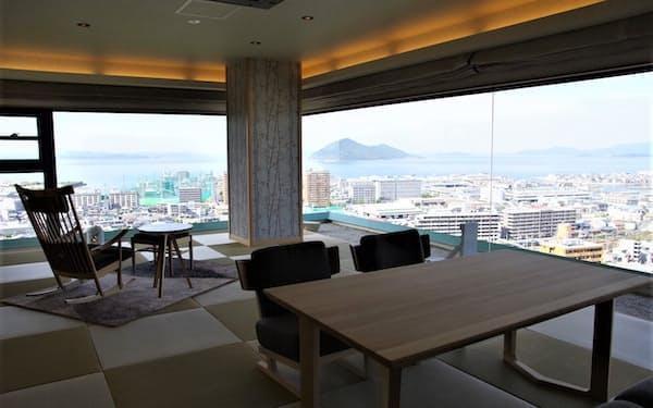 瀬戸内海を一望できる高級客室を新設しコロナ後の需要回復に備える