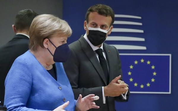24日に始まったEU首脳会議(ブリュッセル)=AP