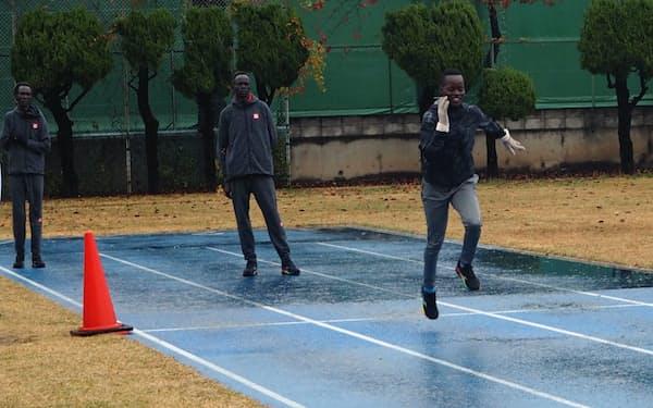 南スーダンの選手は19年から長期合宿を続けている(前橋市)