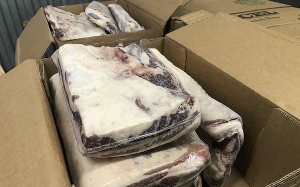 米国産の牛バラ肉は牛丼などに使うことが多い