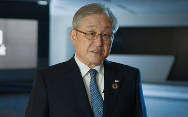 基調講演する東原敏昭社長