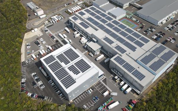 太陽光発電の設備を備える施設や店舗で余った電力を消費者に供給する(日本アクセスの物流施設)