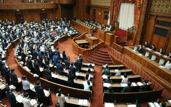 与党などの賛成多数で改正少年法が可決、成立した参院本会議(5月21日)
