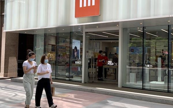 小米の北京市内の店舗(5月25日)