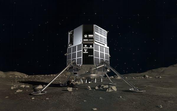 ispaceが開発する月面着陸機(イメージ図)