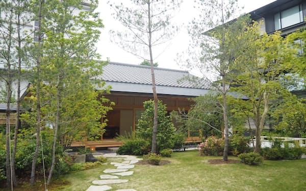 二条城の近くにあるホテルザ三井京都の離れ「四季の間」