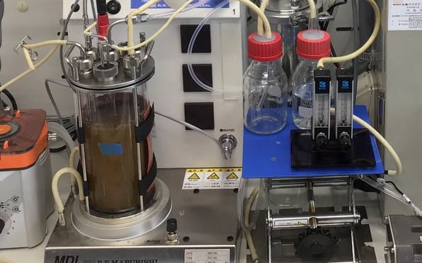 合成ガスから微生物を使ってアセトンを作る=広島大学提供