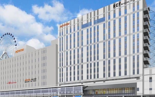 12月に開業予定のホテルの外観イメージ