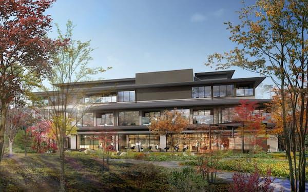 京都市左京区にオークラが新規開業する「ホテルオークラ京都 岡崎別邸」のイメージ図