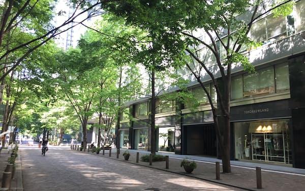 バイオマス発電所では、街路樹などの剪定枝を燃料に使う(東京・丸の内)