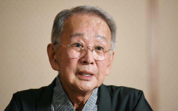 歌舞伎俳優の片岡秀太郎さん(2019年8月、大阪市中央区)