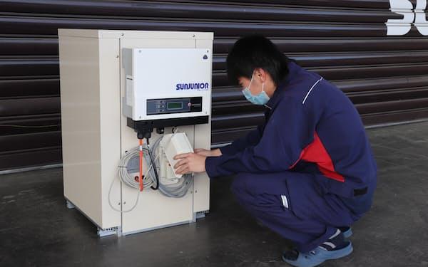 サンジュニアの蓄電池は低価格が強み