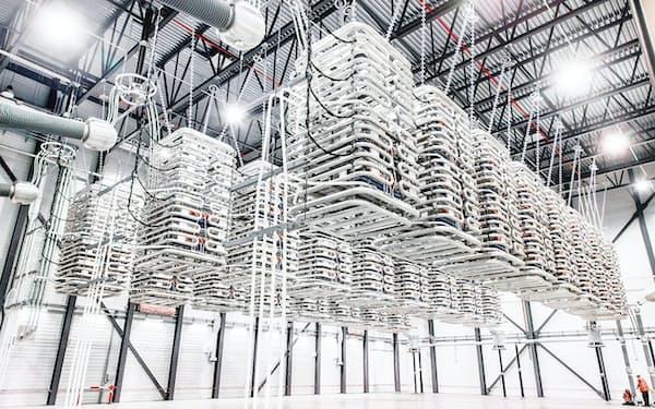 高圧直流送電(HVDC)の周波数変換装置のイメージ。日立ABB HVDCテクノロジーズは「自励式」と呼ぶHVDC技術を用いた周波数変換装置を中部電力の東清水変電所に納入する(出所:ABB)
