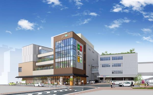 駅直結の商業施設「ミュープラット神宮前」は7月に開業する