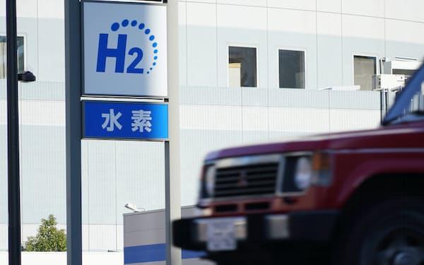 水素ステーション(1月30日、東京都中央区)