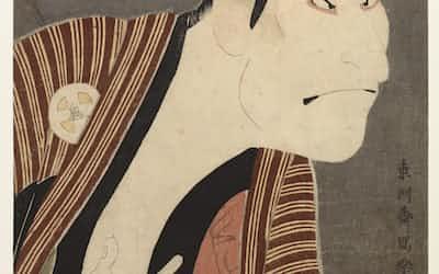 東洲斎写楽の「大谷鬼次の奴江戸兵衛」                                                   (東京国立博物館提供、https://webarchives.tnm.jp/)