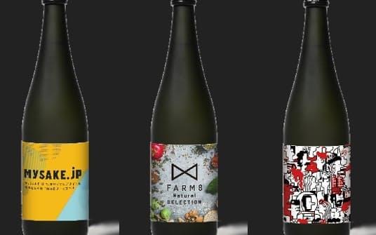 自分が使いたい画像をラベルにしたオリジナル日本酒がネット発注できる