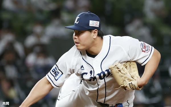 5月29日の阪神戦で九回に登板し、3セーブ目を挙げた平良=共同