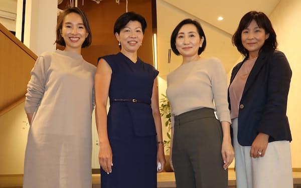 VCファンド「MPower」を共同で設立したキャシー・松井氏(中央左)、村上由美子氏(右端)、関美和氏(中央右)、鈴木絵里子氏