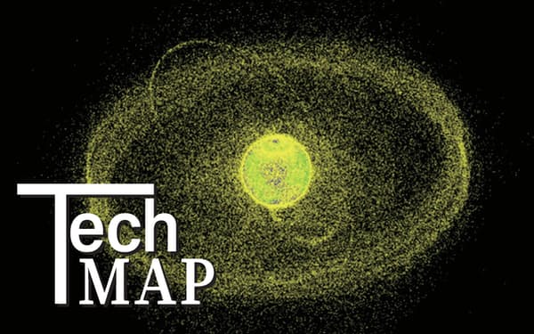 地球周辺の軌道上にあるデブリなどの物体分布のイメージ