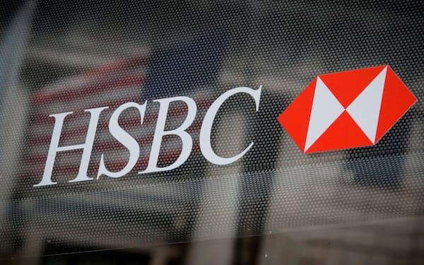 HSBCの収益率はなお低い(2019年8月、ニューヨークのHSBC支店)=ロイター