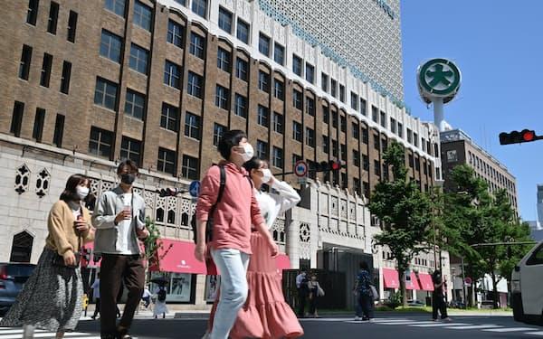 一部の売り場に限定して営業する大丸心斎橋店(31日、大阪市中央区)