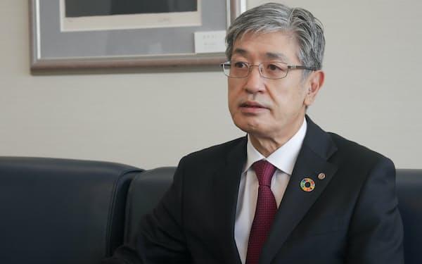 赤坂社長は「ビジネス客がコロナ前の水準に戻るのは難しい」と語る