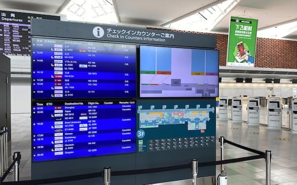 北海道エアポートは新型コロナウイルス感染拡大で旅客数が激減している(新千歳空港)
