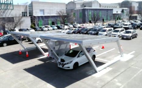 太陽光でEVに充電する設備