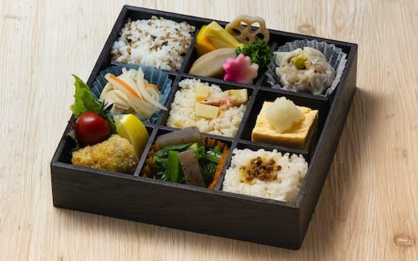 静岡県立大学が監修したなすび(静岡市)の「静岡ブランド健康食」弁当