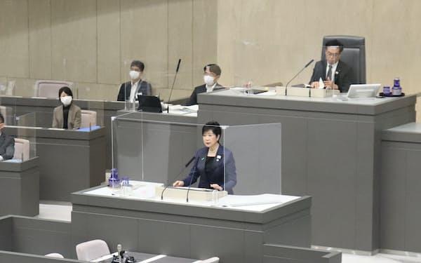 小池百合子知事は新型コロナ対策について「あらゆる対策を講じていく」と強調した(1日)
