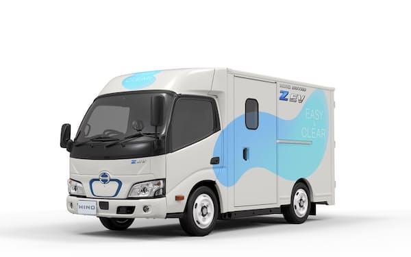 トラック業界でも電動車開発は加速している(日野自動車が2022年に発売する小型EVトラック)