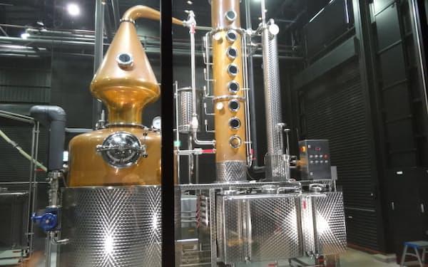 サクラオB&Dでモルトウイスキーの製造に使われる蒸留器