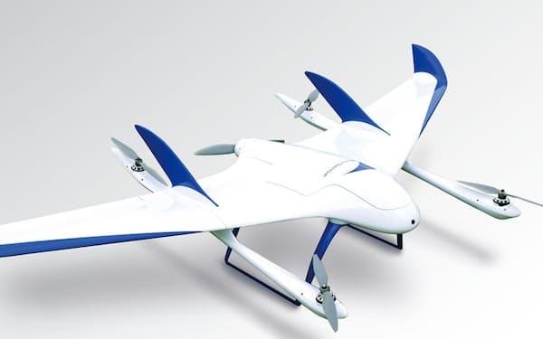 長距離飛行が可能な、エアロセンスの飛行機型のドローン